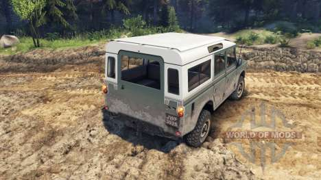 Land Rover Defender Cyan для Spin Tires