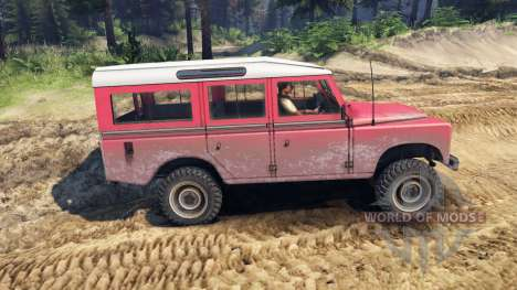 Land Rover Defender Red для Spin Tires