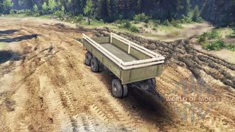 Прицеп бортовой v1 для ЗиЛ-133 Г1 и ЗиЛ-133 ГЯ для Spin Tires
