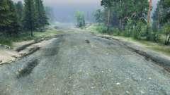 Щебневая дорога для Spin Tires