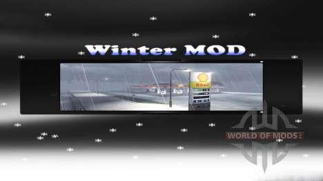 Полноценная зима для Euro Truck Simulator 2