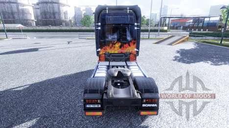 Окрас -Smokey and the Bandit- на тягач Scania для Euro Truck Simulator 2