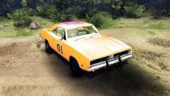 Dodge Charger General Lee для Spin Tires