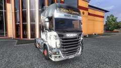 Окрас -Pirates of the Caribbean- на тягач Scania для Euro Truck Simulator 2