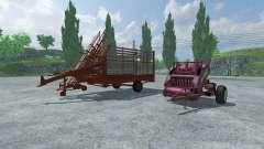 Тюковый пресс-подборщик и подборщик тюков для Farming Simulator 2013