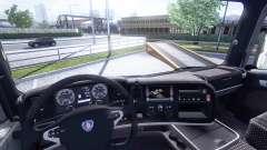 Интерьер для Scania -Leather- для Euro Truck Simulator 2