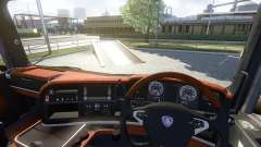 Интерьер для Scania -Wood- для Euro Truck Simulator 2