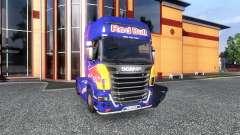 Окрас -Red Bull- на тягач Scania для Euro Truck Simulator 2