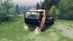 Чёрно-оранжевый окрас на КамАЗ-6520 для Spin Tires