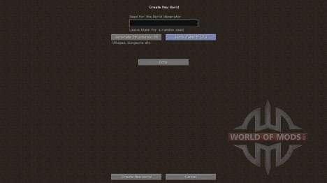 Старая генерация мира для Minecraft