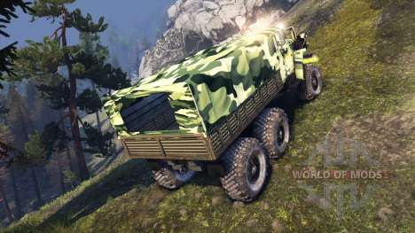 Урал-4320-41 camo для Spin Tires