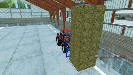 Вилы для погрузки не оригинальных тюков для Farming Simulator 2013