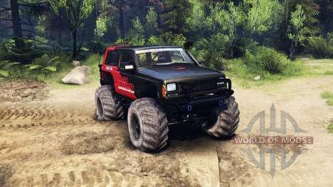 Jeep Cherokee XJ v1.3 Rough Country red clean для Spin Tires