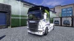 Окрас -Monster Energy- на тягач Scania для Euro Truck Simulator 2