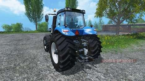 New Holland T8.390 Ultra White 2011 v2.0 для Farming Simulator 2015