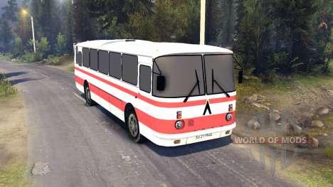 ЛАЗ-699Р red stripes для Spin Tires