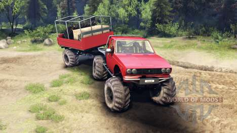 Toyota Hilux Truggy v1.0 wheels1 для Spin Tires