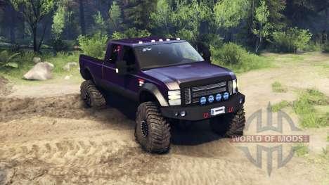 Ford F-350 Super Duty 6.8 2008 v0.1.0 purple для Spin Tires