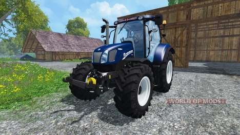 New Holland T6.160 Blue Power v1.1 для Farming Simulator 2015