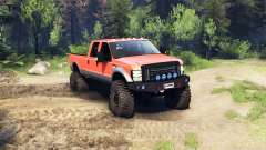 Ford F-350 Super Duty 6.8 2008 v0.1.0 orange для Spin Tires