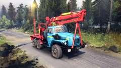 Красно-синяя расцветка на Урал-4320 для Spin Tires