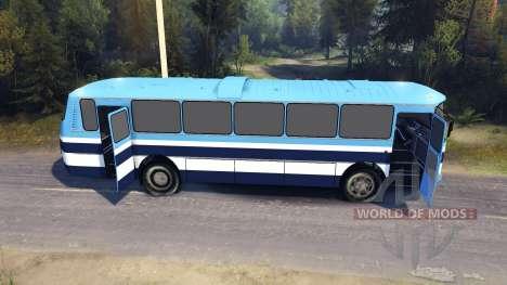 ЛАЗ-699Р blue stripes для Spin Tires
