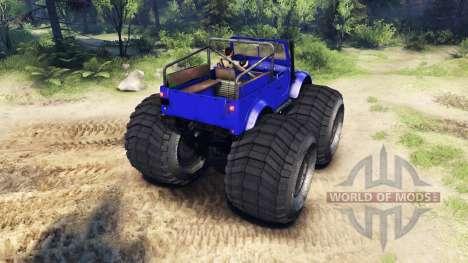 ГАЗ-69М Blue Monster для Spin Tires