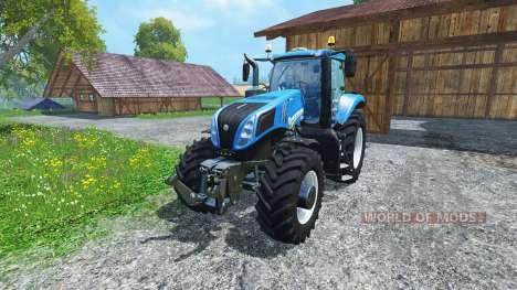 New Holland T8.435 4wheels v0.1 для Farming Simulator 2015