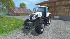 New Holland T8.435 Ultra White v1.3 для Farming Simulator 2015