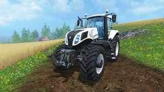 New Holland T8.435 Ultra White v1.31 для Farming Simulator 2015