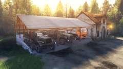 Навес и домик вместо гаража для Spin Tires
