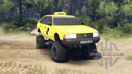 АЗЛК 2141 Москвич такси монстр v1.1 для Spin Tires