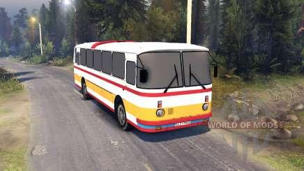 ЛАЗ-699Р red-orange stripes для Spin Tires