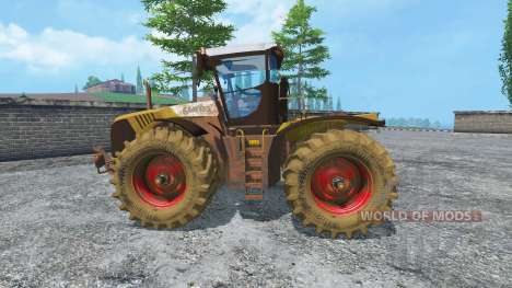 CLAAS Xerion 5000 v2.0 dirt для Farming Simulator 2015