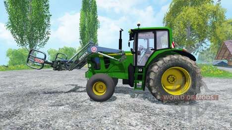 John Deere 6130 2WD FL TwinWheels для Farming Simulator 2015