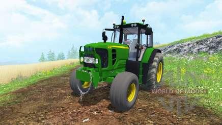 John Deere 6130 2WD FL TwinWheels для Farming Simulator 2015