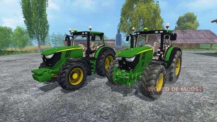 John Deere 6170R and 6210R для Farming Simulator 2015
