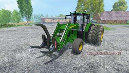 John Deere 6130 2WD FL v2.0 для Farming Simulator 2015
