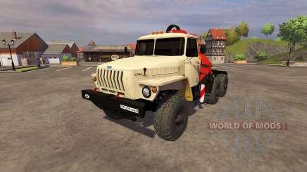 Урал-5557 кран-манипулятор ivory для Farming Simulator 2013