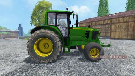 John Deere 6130 2WD v2.0 для Farming Simulator 2015