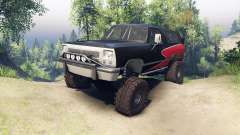 Dodge Ramcharger II 1991 red and black-clean для Spin Tires