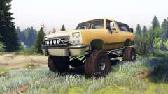 Dodge Ramcharger II 1991 dirty brown для Spin Tires
