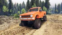 Toyota Hilux Truggy 1981 v1.1 orange для Spin Tires