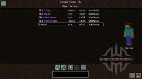 Female Gender Option для Minecraft