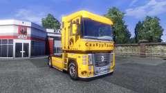 Скин СкаКурТранс на тягач Renault для Euro Truck Simulator 2