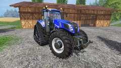 New Holland T8.435 with 200 km-h