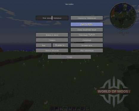 Zyins HUD для Minecraft