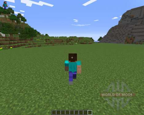 Character On GUI для Minecraft