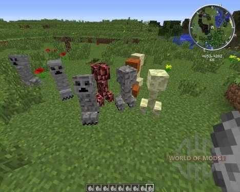 Material Creepers для Minecraft