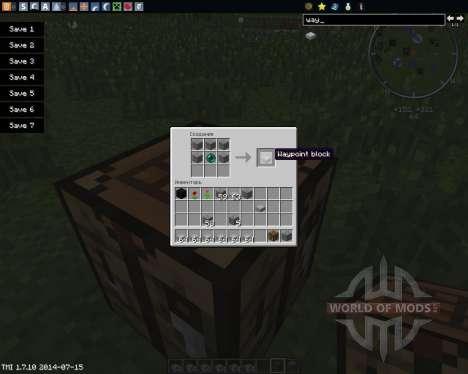Waypoints для Minecraft